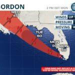 Tropical Storm Gordon Forms Over South Florida
