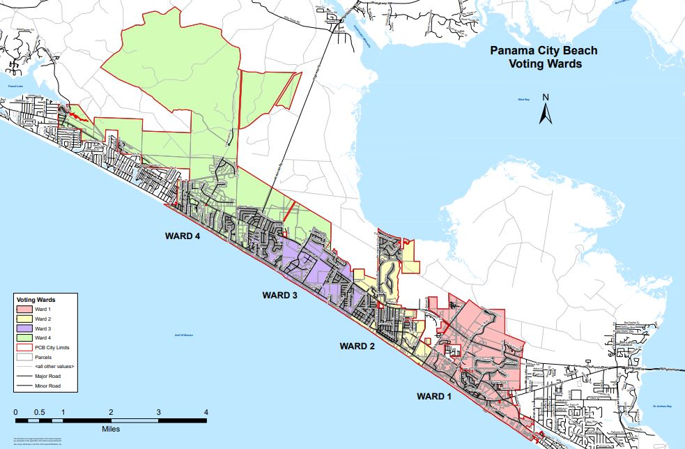 Alcohol Can Be Sold From 6 A M 10 P Not All Of Panama City Beach The Island Is Inside Limits See Voter Ward Map Below Which Designates