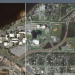 Pre and Post Hurricane Michael images