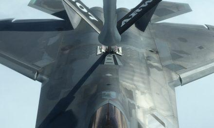 Reservists refuel Tyndall F-22 Raptor following hurricane