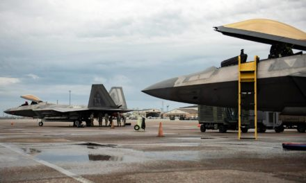 Two Tyndall F-22's Return Home